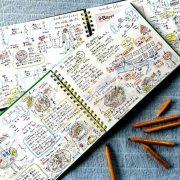 トライアスロン旅にも「スケッチブックと色鉛筆」を。