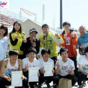 参加者と箱根ランナーや世界陸上選手が交流。第1回「森脇健児陸上部リレーマラソン2017 in 夢の島」